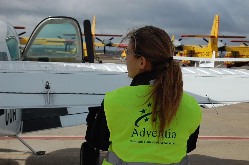 Diana Rodríguez, jefa de vuelo de Adventia